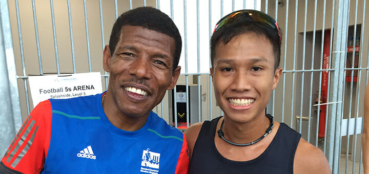 A moment with Haile Gebrselassie (Banner)