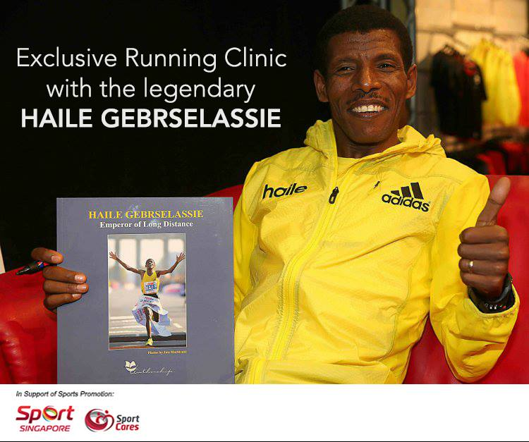 Running Clininc With Haile Gebrselassie.