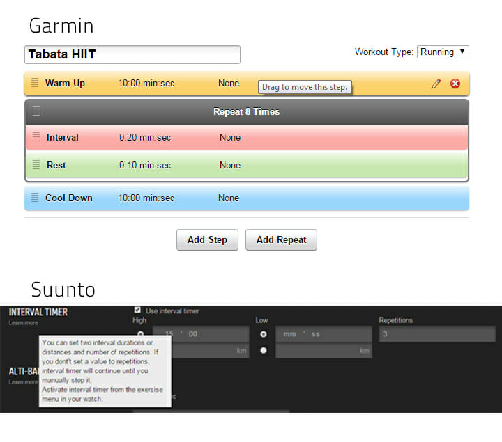 Garmin-Suunto-Interval