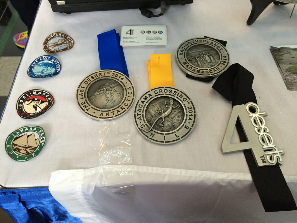 Medals from all the 4 events as well as the Grand Slam Medal should one complete all 4 races.