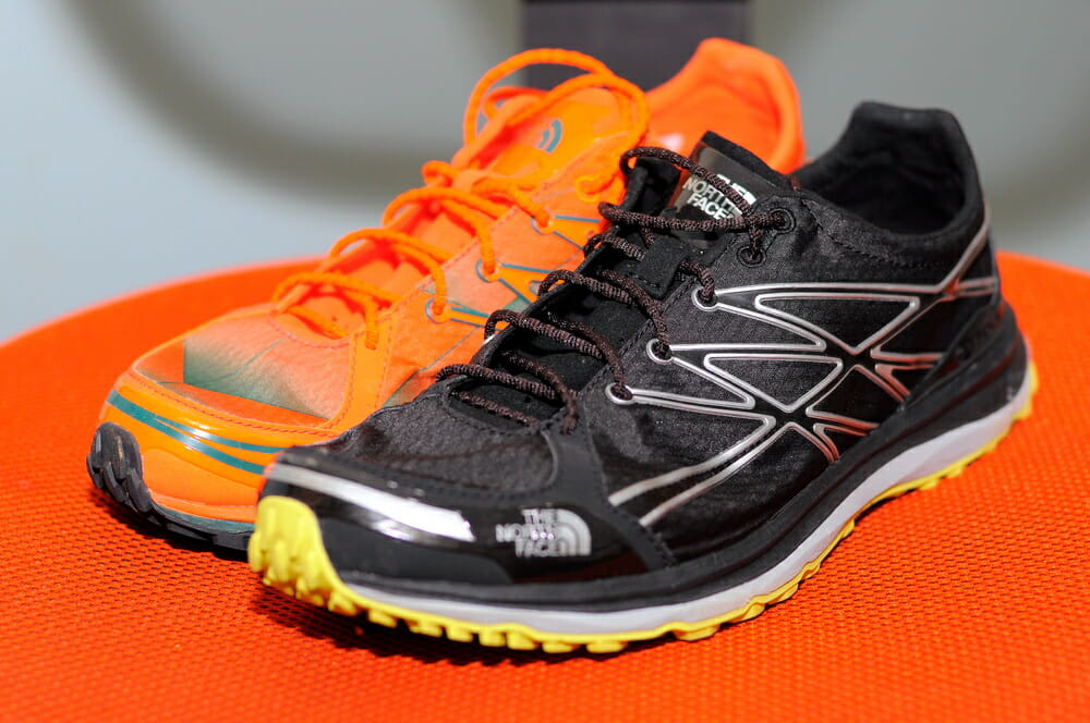 The upper is quite reflective on the Black/Dayglo Yellow shoe, as opposed to the Power Orange.