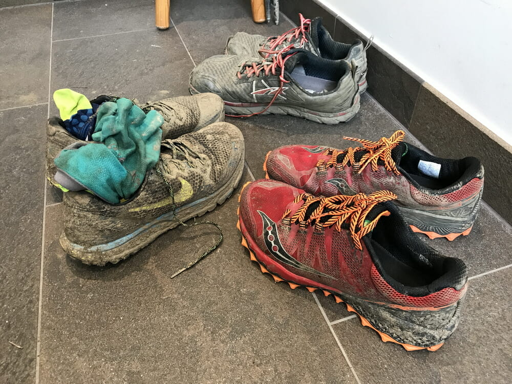 Battered shoes. The Peregrine 7 did well for two races. A bit sad it's going to get discontinued for the newer model next year.
